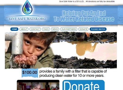 Givesafewater Scrnsht