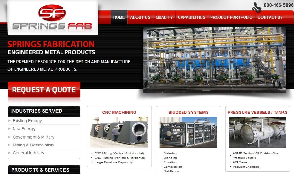 Springsfab Homepage